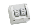 Clipsal - Double Weatherproof Switch 16A 250v (IP56 Rated) - WS226/2RG