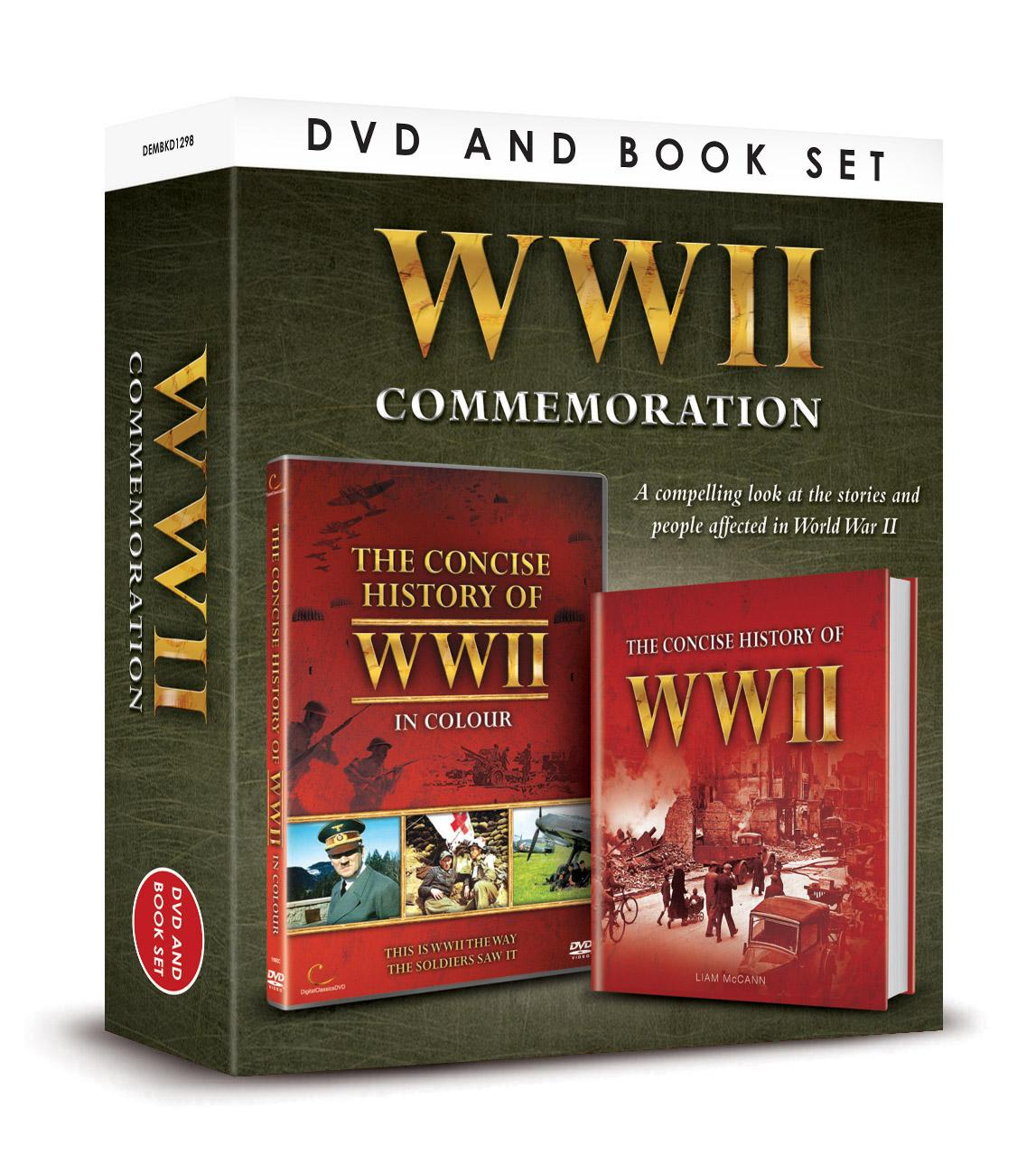 WWII Commemoration DVD and Book Set,wwii, world war 2