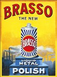 Brasso - A5 Metal Wall Sign