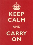 Keep Calm and Carry On - Metal Wall Sign (3 sizes)