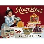 Rowntree's Jelly A5 Metal Wall Sign
