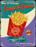 NEW IN.. French Fries -  Metal Wall Sign (3 sizes)
