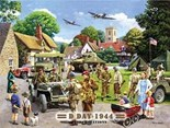 NEW IN - D-Day Landings Preparations A3 Metal Wall Sign