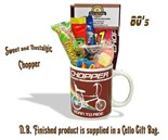 NEW IN Raleigh Chopper Mug with/without  80's retro sweeties.