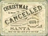 NEW IN.. Christmas is Cancelled -  Metal Wall Sign (3 sizes)