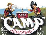 Camp Coffee  A3 Metal Wall Sign