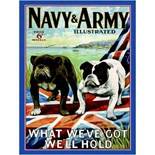 Navy and Army A3 Metal Wall Sign