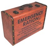 NEW IN.. Wooden Emergency Ration Storage Suitcases (Pack of 2)