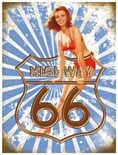 Highway 66-  Metal Wall Sign (2 sizes)