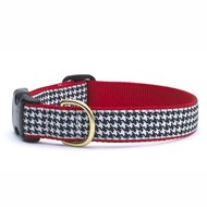 Classic Black Houndstooth Dog Collar