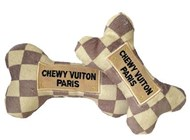 Checker Chewy Vuiton Bone Designer Toy