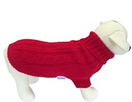 Handknitted Brighton Dog Sweater -Red