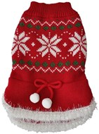 Handknitted Christmas Snowflake & Pom Pom Sweater