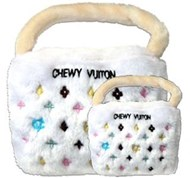 Chewy Vuiton White Bag Plush Toy
