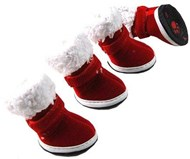 Christmas Santa Dog Shoes