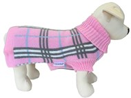 Handknitted Knightsbridge Wool Pet Sweater (Pink)