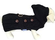 Handknitted Paris Black Dog Sweater