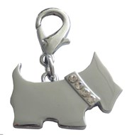 Scottie Dog Crystal Charm (Clear)