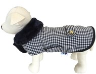 Classic Houndstooth Dog Coat
