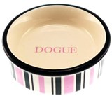 DOGUE Striped Cat/Puppy Bowl (PINK)