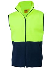 BASIC HI VIS POLAR FLEECE VESTS