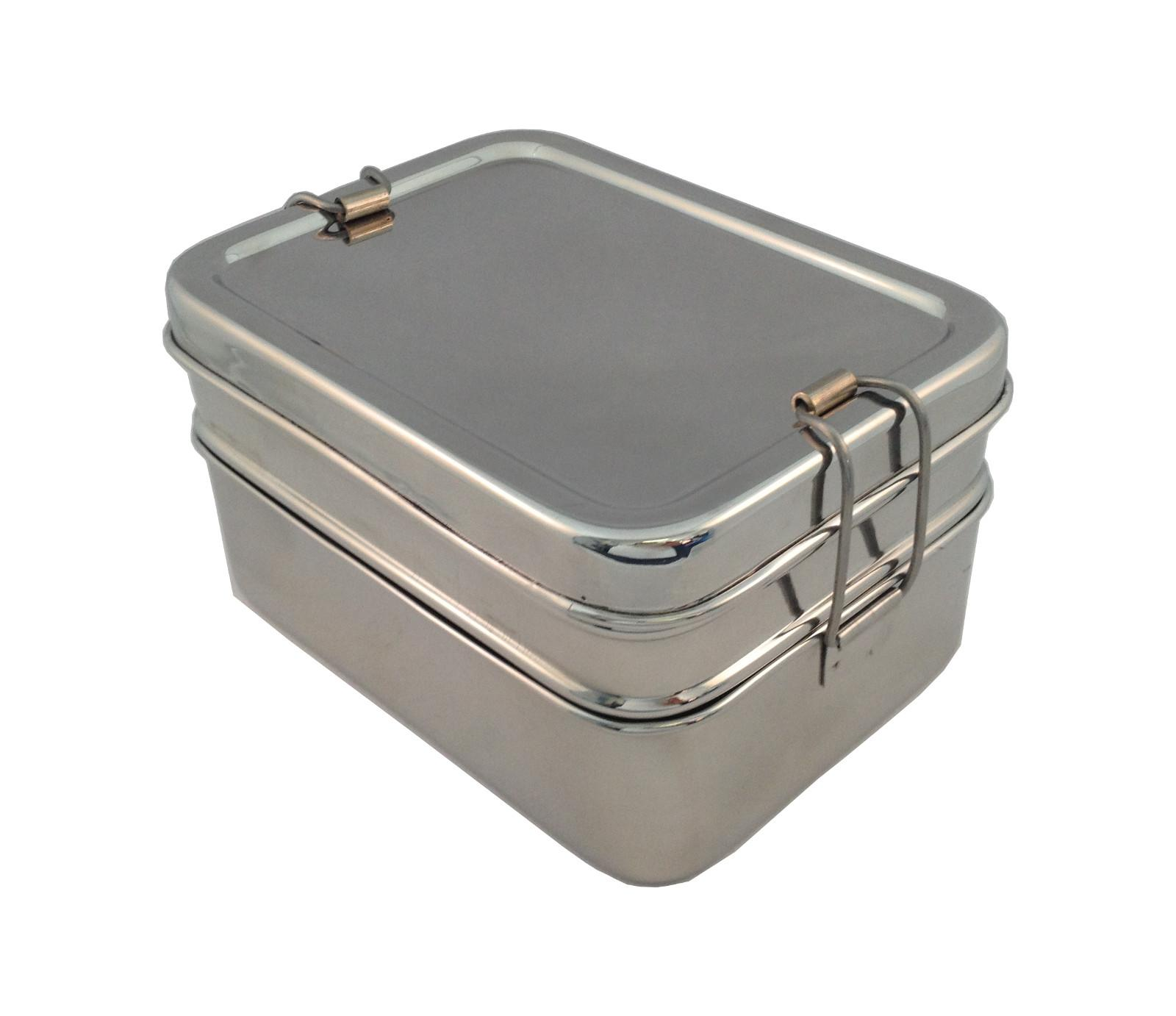 Tuck A Stacker Three In One Stainless Steel Lunch Box By