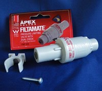 "APEX FILTAMATE PRESSURE LIMITING VALVE FMP 350 with Dual Check 1/4"" John Guest Fitting"