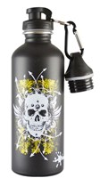 CHEEKI 500 ml SKULL STAINLESS STEEL WATER BOTTLE BPA Free Loop Lid and Sports Lid