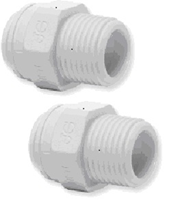 "JOHN GUEST STRAIGHT ADAPTOR - NPTF Thread 1/4"" x  1/4"" Tube  CI010822W Pack of 2"