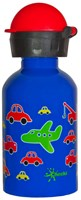 CHEEKI 350 ml TRAFFIC KIDS STAINLESS STEEL WATER BOTTLE BPA FREE TWIST LID