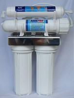 AQUAPRO REVERSE OSMOSIS 4 STAGE UNDER SINK UNIT WITH STORAGE TANK