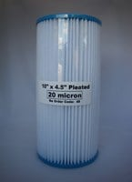 "MAGNUM WHOLE OF HOUSE PLEATED SEDIMENT REPLACEMENT WATER FILTER 20 MICRON 10"" X 4.5"""