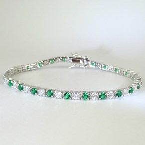 The 'Diamond' and 'Emerald' Tennis Bracelet