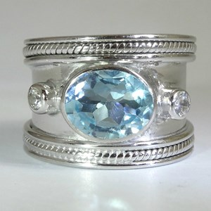 The Fabulous Blue Topaz Guinevere Ring NOW IN SILVER!!