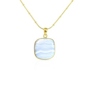 The Blue Lace Agate Pendant
