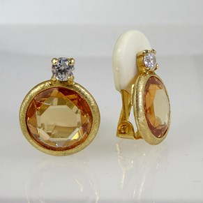 At last! FABULOUS CLIP-ON 'Diamond' CZ EARRINGS from Italy!