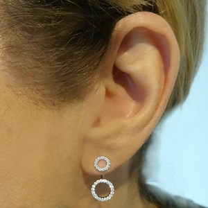 New! Back-to-front Circle Earrings