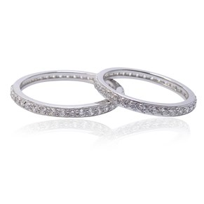 The 2mm Silver Eternity Band