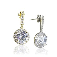 The Solitaire Cluster Drops Earrings