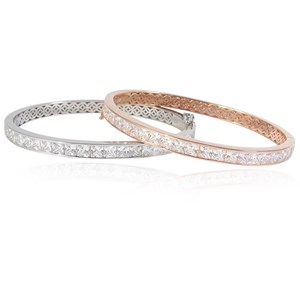The Silver and Rose Gold Bangles