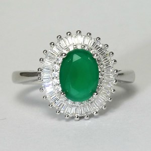 NEW- The 'Emerald' Ring With Diamond Shoulders