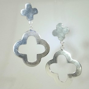 The Silver Clover Earring