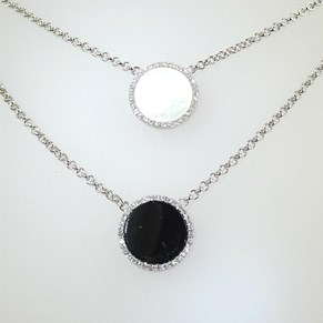 New!  Mother of Pearl and 'Diamond' necklace