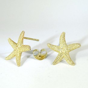 NEW - Gold Starfish Stud Earrings
