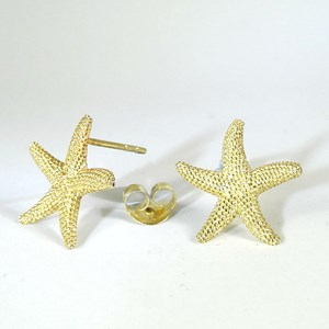 The Gold Starfish Studs