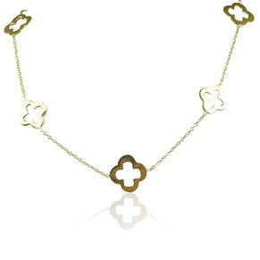The Short Gold Clover Necklace