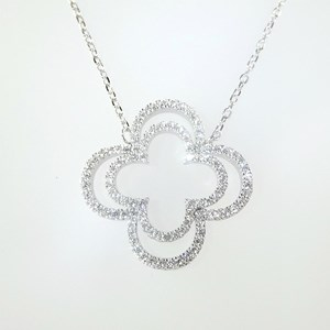 New! 'Diamond' clover necklace