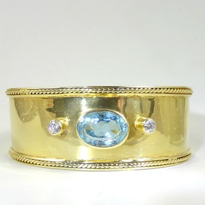 NEW! REAL Blue Topaz and Pink Topaz Guinevere Arm Cuffs