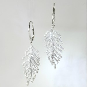 Oh, so exquisitely beautiful; the large Feather Earrings