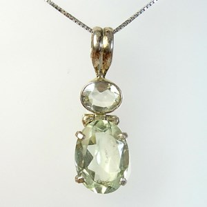 The Green Amethyst Raj Pendant